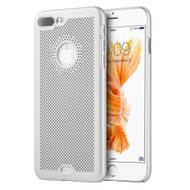 Perforated Ultra Slim Protective Shell Case for iPhone 7 Plus - Silver