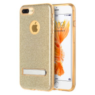 Full Glitter Hybrid Protective Case with Kickstand for iPhone 8 Plus / 7 Plus - Gold