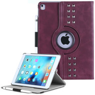 *SALE* Premium Retro Studded 360 Rotating Smart Leather Case for iPad Pro 9.7 inch - Burgundy