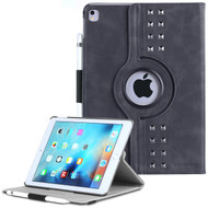 *SALE* Premium Retro Studded 360 Rotating Smart Leather Case for iPad Pro 9.7 inch - Steel Gray