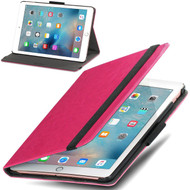 *Clearance* Classic Hard Shell Smart Leather Stand Case for iPad Pro 9.7 inch - Hot Pink