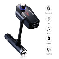 *SALE* Bluetooth FM Transmitter Hands-Free Car Kit with Dual USB Charger - Black