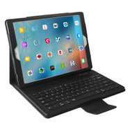 Leather Kickstand Case with Removable Bluetooth Wireless Keyboard for iPad Pro 12.9 inch - Black