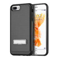 *Sale* Brushed Multi-Layer Hybrid Armor Case with Kickstand for iPhone 7 Plus - Black