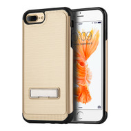 *Sale* Brushed Multi-Layer Hybrid Armor Case with Kickstand for iPhone 7 Plus - Gold