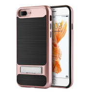 *SALE* SilkTech Bumper Frame Hybrid Case with Kickstand for iPhone 7 Plus - Rose Gold