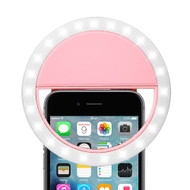 Portable Smartphone Selfie LED Ring Light - Pink