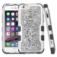 *Sale* TUFF Vivid Mini Crystals Hybrid Armor Case for iPhone 6 Plus / 6S Plus - Silver