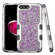 TUFF Vivid Mini Crystals Hybrid Armor Case for iPhone 8 Plus / 7 Plus - Purple