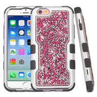 TUFF Vivid Mini Crystals Hybrid Armor Case for iPhone 6 / 6S - Pink