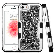 TUFF Vivid Mini Crystals Hybrid Armor Case for iPhone SE / 5S / 5 - Black