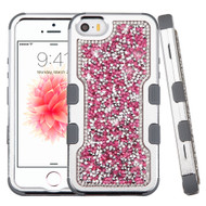 *Sale* TUFF Vivid Mini Crystals Hybrid Armor Case for iPhone SE / 5S / 5 - Pink
