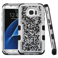 TUFF Vivid Mini Crystals Hybrid Armor Case for Samsung Galaxy S7 Edge - Black