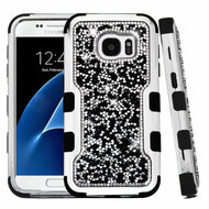 TUFF Vivid Mini Crystals Hybrid Armor Case for Samsung Galaxy S7 - Black