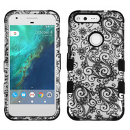 *Sale* Military Grade TUFF Image Hybrid Armor Case for Google Pixel XL - Leaf Clover Black
