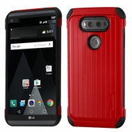 Suitcase Design Hybrid Protector Cover for LG V20 - Red