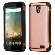 *Sale* Electroplated Tough Hybrid Case for ZTE Avid Plus / Avid Trio / Maven 2 / Prestige / Sonata 3 - Rose Gold