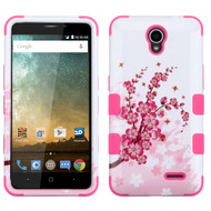 *Sale* Military Grade TUFF Hybrid Case for ZTE Avid Plus / Avid Trio / Maven 2 / Prestige / Sonata 3 - Spring Flowers