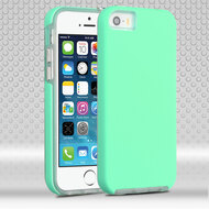 Ezpress Anti-Slip Hybrid Armor Case for iPhone SE / 5S / 5 - Teal Green