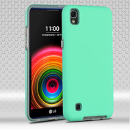 *SALE* Ezpress Anti-Slip Hybrid Armor Case for LG K6 / X Power - Teal Green