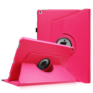360 Rotating Smart Leather Hybrid Case for iPad Pro 12.9 inch - Hot Pink