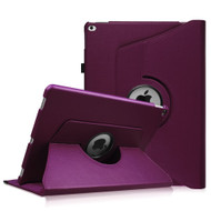 360 Rotating Smart Leather Hybrid Case for iPad Pro 12.9 inch - Purple