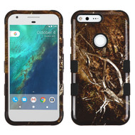 Military Grade Certified TUFF Image Hybrid Armor Case for Google Pixel - Tree Camouflage