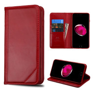 Mybat Genuine Leather Wallet Case for iPhone 8 Plus / 7 Plus - Red