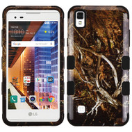 Military Grade TUFF Image Hybrid Armor Case for LG Tribute HD / X Style - Tree Camouflage