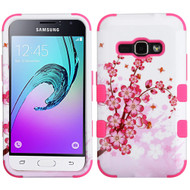 Military Grade TUFF Image Hybrid Armor Case for Samsung Galaxy Amp 2 / Express 3 / J1 (2016) - Spring Flowers