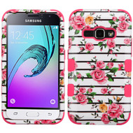 Military Grade TUFF Image Hybrid Armor Case for Samsung Galaxy Amp 2 / Express 3 / J1 (2016) - Fresh Roses