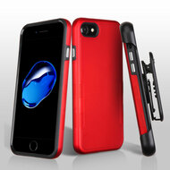 TUFF Contempo Hybrid Armor Case with Holster for iPhone 8 / 7 - Red