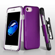 TUFF Contempo Hybrid Armor Case with Holster for iPhone 8 / 7 - Purple