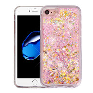 Quicksand Glitter Transparent Case for iPhone 8 / 7 - Pink