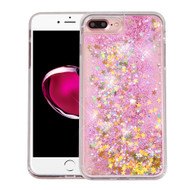 Quicksand Glitter Transparent Case for iPhone 8 Plus / 7 Plus - Pink