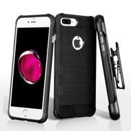 *Sale* TUFF Cosmic Space Premium TPU Case with Holster for iPhone 8 Plus / 7 Plus - Black