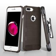 TUFF Cosmic Space Premium TPU Case with Holster for iPhone 8 Plus / 7 Plus - Dark Grey