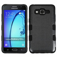 Military Grade TUFF Image Hybrid Armor Case for Samsung Galaxy On5 - Carbon Fiber
