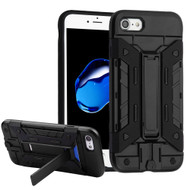 Transformer Hybrid Card Case with Stand for iPhone 8 / 7 - Black
