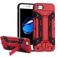 Transformer Hybrid Card Case with Stand for iPhone 8 / 7 - Red