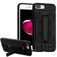 Transformer Hybrid Card Case with Stand for iPhone 8 Plus / 7 Plus - Black