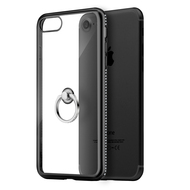 *SALE* Diamond Stud Electroplating Clear TPU Case Ring Holder for iPhone 7 - Black