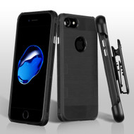 TUFF Cosmic Space Premium TPU Case with Holster for iPhone 8 / 7 - Black