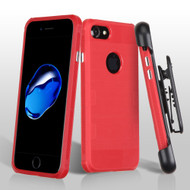 TUFF Cosmic Space Premium TPU Case with Holster for iPhone 8 / 7 - Red