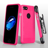*Sale* TUFF Cosmic Space Premium TPU Case with Holster for iPhone 8 / 7 - Hot Pink