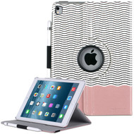 360 Degree Smart Rotary Leather Case for iPad Pro 9.7 inch - Wave Rose Gold