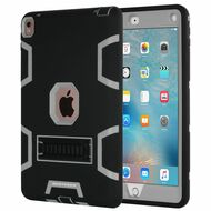 *SALE* Shock Absorption Heavy Duty Rugged Hybrid Armor Case with Kickstand for iPad Pro 9.7 inch - Black Grey