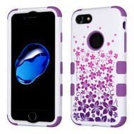 Military Grade Certified TUFF Image Hybrid Armor Case for iPhone 8 / 7 - Purple Rising Hibiscus