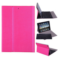Slim Folio Kickstand Case with Removable Bluetooth Wireless Keyboard for iPad Air / Air 2 - Hot Pink