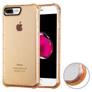 Air Sacs Transparent Anti-Shock TPU Case for iPhone 8 Plus / 7 Plus - Gold